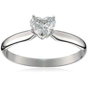 Heart shape 1.25 carat solitaire CVD diamond Weddi